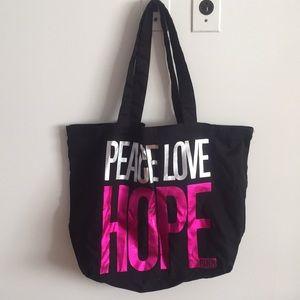 VS PINK Vintage Peace Love Lightweight Tote Bag